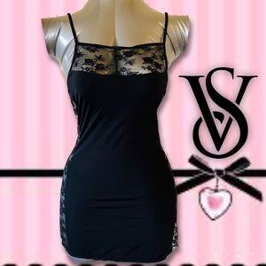 VS Black Lace Trimmed Cami, Body-con, Lingerie
